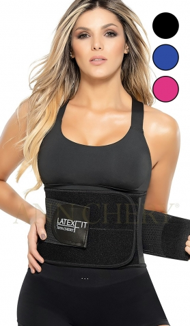 Ann Chery Black 2051 Latex Fit<br>Waist Trimmer and Trainer Belt UK