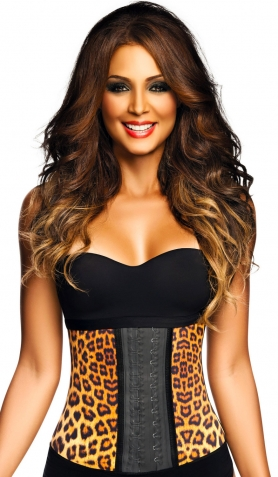 Ann Chery AC2024 Leopard Latex Workout Waist Trainer<br>Visibly Reduces Waist Line