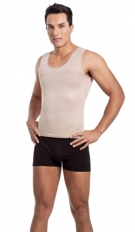 Mens Slimming ES5770 Mens Body Shaper Vest - Casual or Fitness